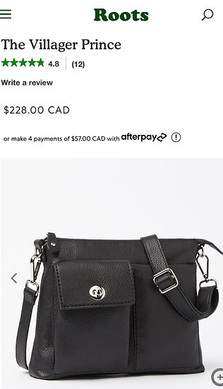 Roots Village Prince Crossbody 🇨🇦 (mint condition )