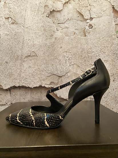 Enzo Angiolini Black/White Heels NEW