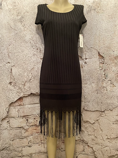 Tribal femme Black Flapper Style Dress NEW
