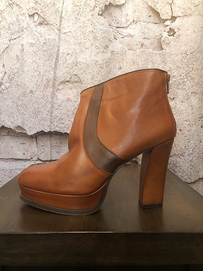 Lucia Barcelo Tan Leather Boots (Spain) NEW