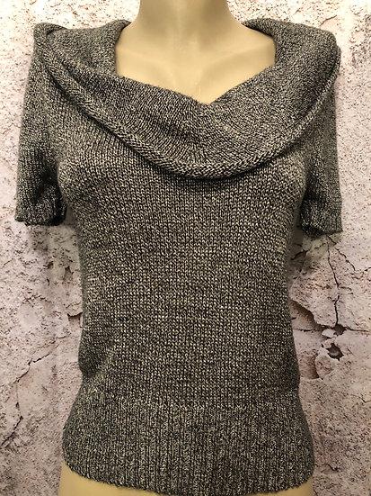 Steven b Black & White Mix Sweater