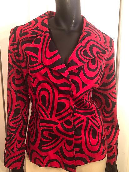Donna Moore Black & Red Blazer