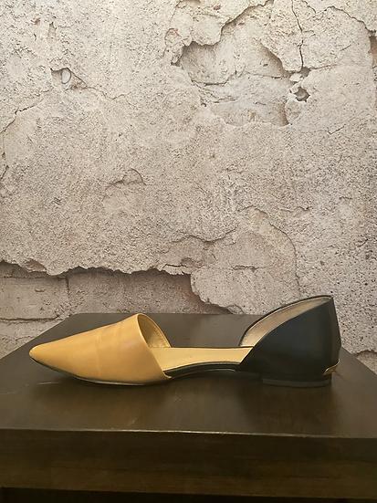Michael Kors Caramel/Black Leather Flats