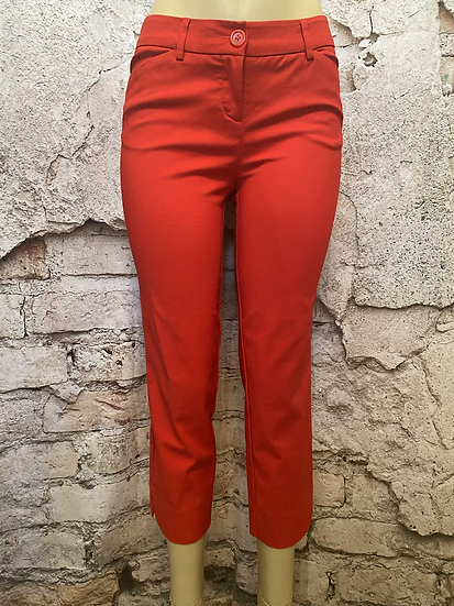 Hilary Radley Red Crop Stretch Pants
