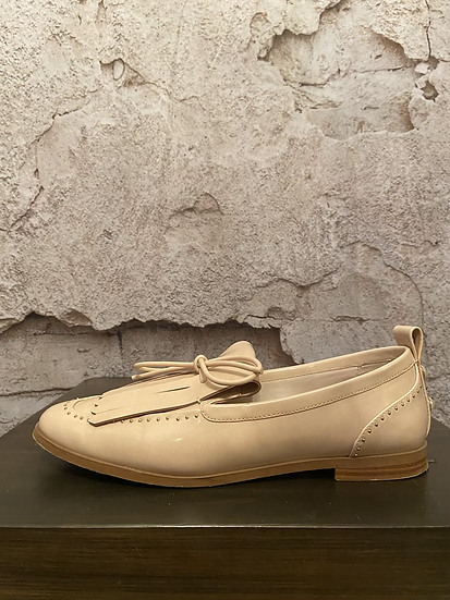 Zara Basic Ivory Pearl Patent Loafers