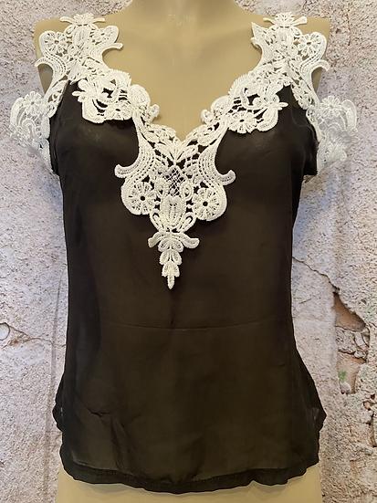 Sheer Black Lace Cami
