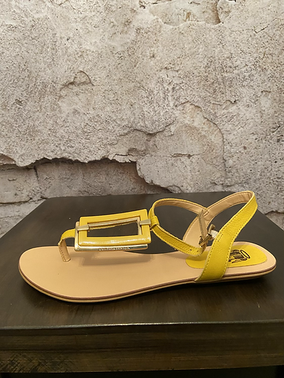 Loucos & Santos Yellow Sandals from Brazil NEW