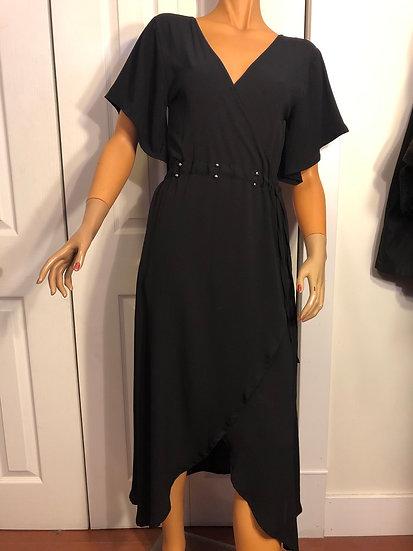 Caty Lesca Black Crepe Dress Paris NEW