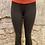 Thumbnail: Lululemon Orange Waistband 3/4 Tights~ Rouched sides