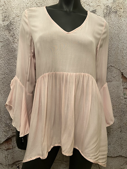 Suzy Sheir Bubble Gum Pink Rayon Blouse