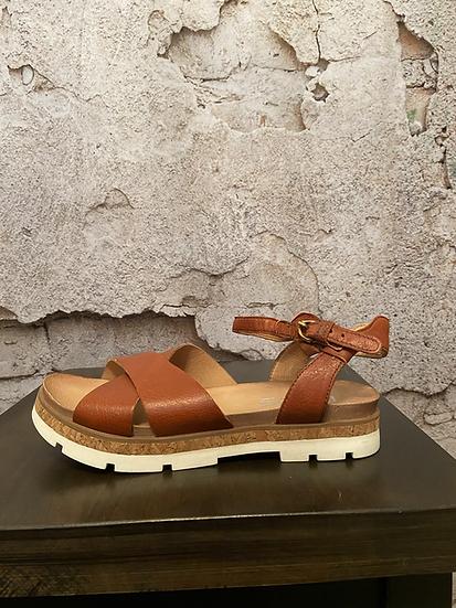 MJUS Cognac Leather Sandals NEW