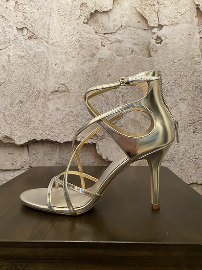 Michael Kors Silver Strappy Sandals NEW