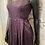 Thumbnail: Aubergine Pleated Dress with Pockets