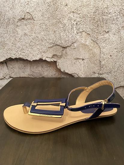 Loucos & Santos Sapphire Blue Sandals NEW