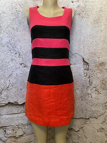 Next Linen Stripe Dress