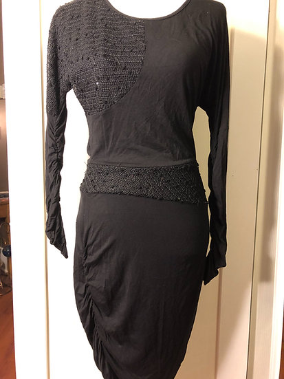 Anne Scott Black Designer Dress