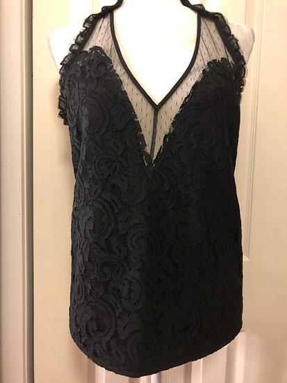 Silvian Heach Black Lace Top NEW