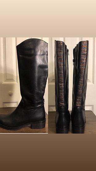 Unit Y Indiversity Black Leather Boots NEW
