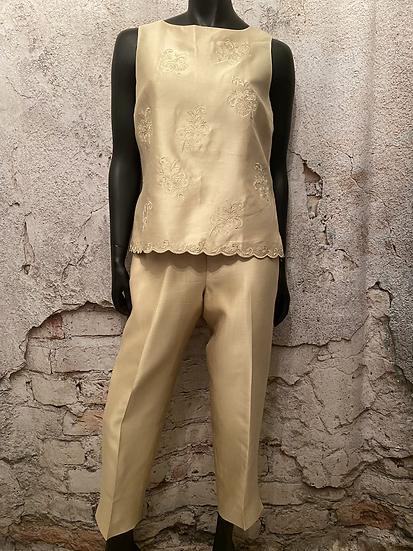 Talbots Gold Silk Pant Suit