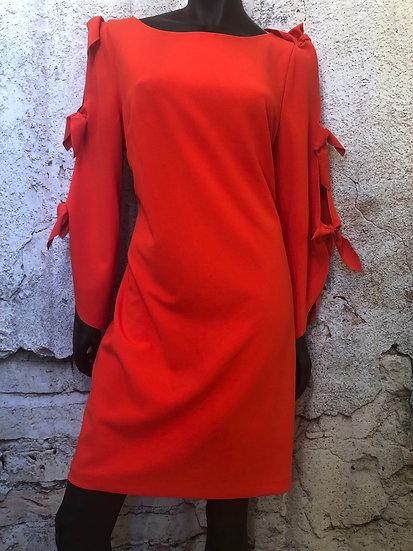 Vince Camuto Orange Lined Dress NEW