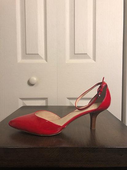 Franco Sarto Red Patent Heels