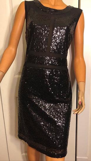 LUNA Black Sequin Dress NEW