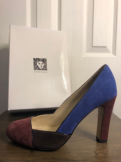 Anne Klein Multi Colored Suede Shoe NEW