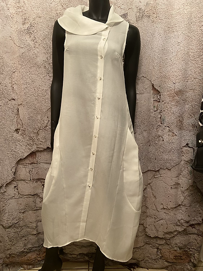 Misslook White Dress with Pockets