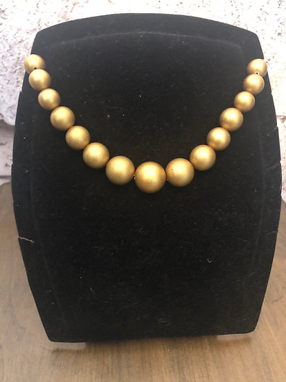 Golden Bead Choker Style Necklace