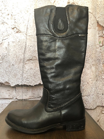 Bussola Black Leather Boot NEW