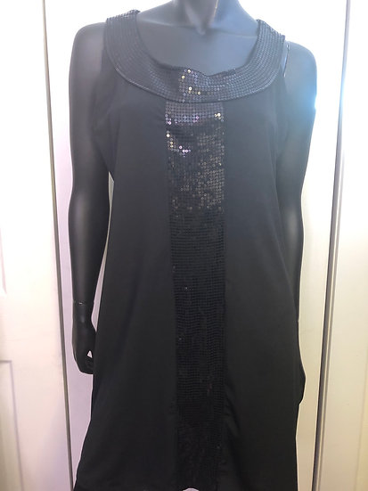 Reitmans Black Sequin Dress