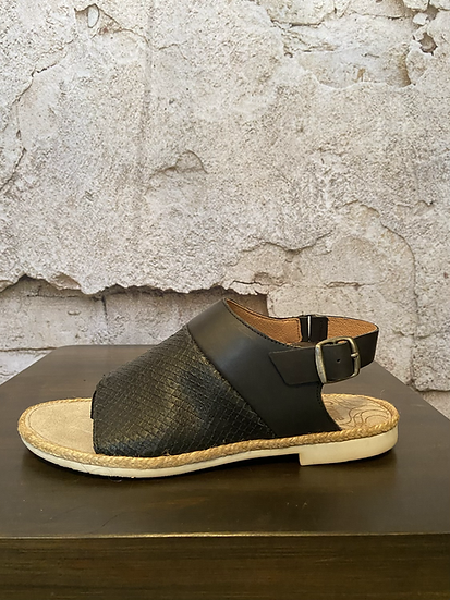 Coque Terra Black Leather Sandal NEW