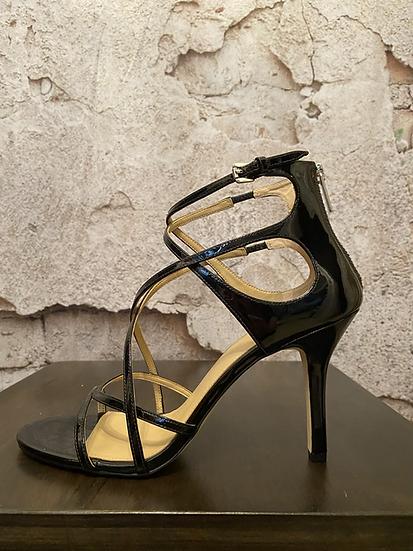 Michael Kors Black Patent Strappy Sandals NEW