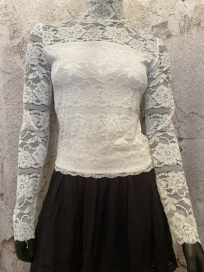Streetwear Stretch Lace Blouse