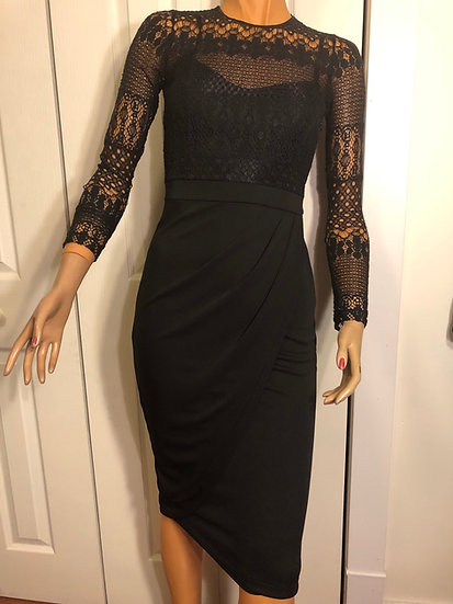 French Connection Black Lace Dress NEW