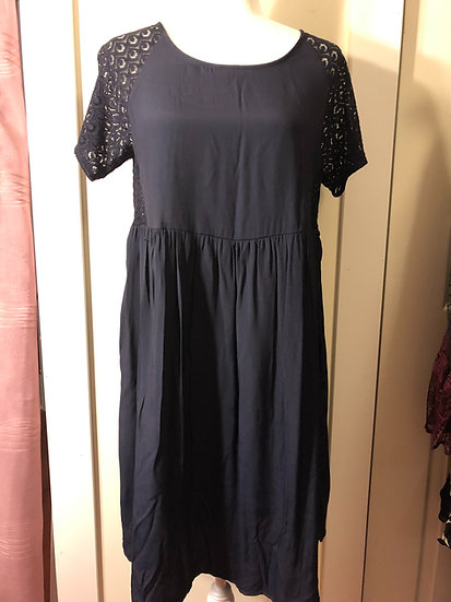 French Conncetion Ombre Blue Lace Dress NEW