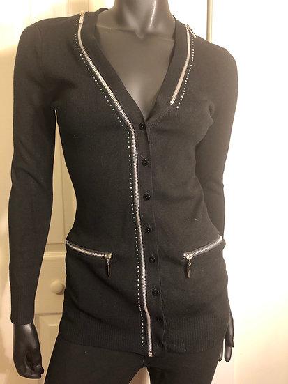 VEX & Co Black Zipper Sweater