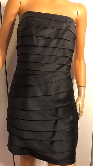Ralph Lauren Black Satin Strapless Dress
