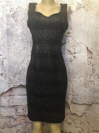 Dusak Designs 🇨🇦 Black Leather Look Sequin Dress