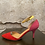 Thumbnail: Chinese Laundry Fuchsia/Red/Yellow Suede Shoes NEW