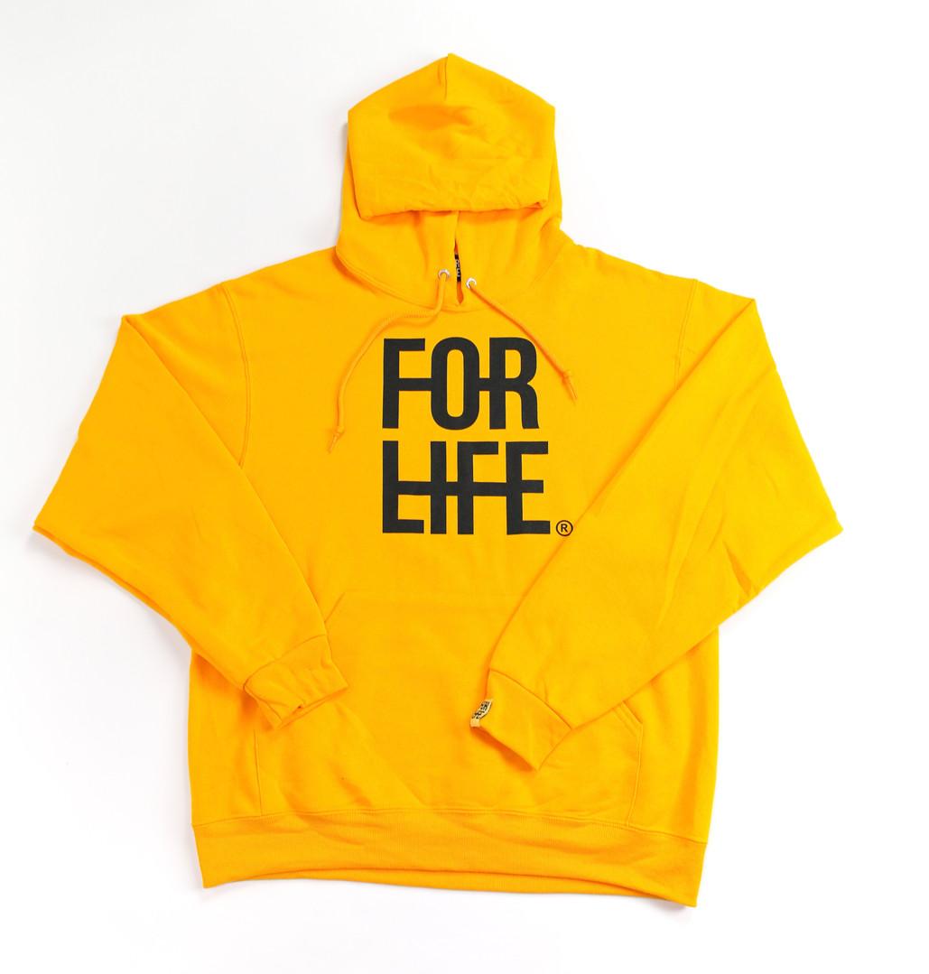Yellow Big Logo Hoodie