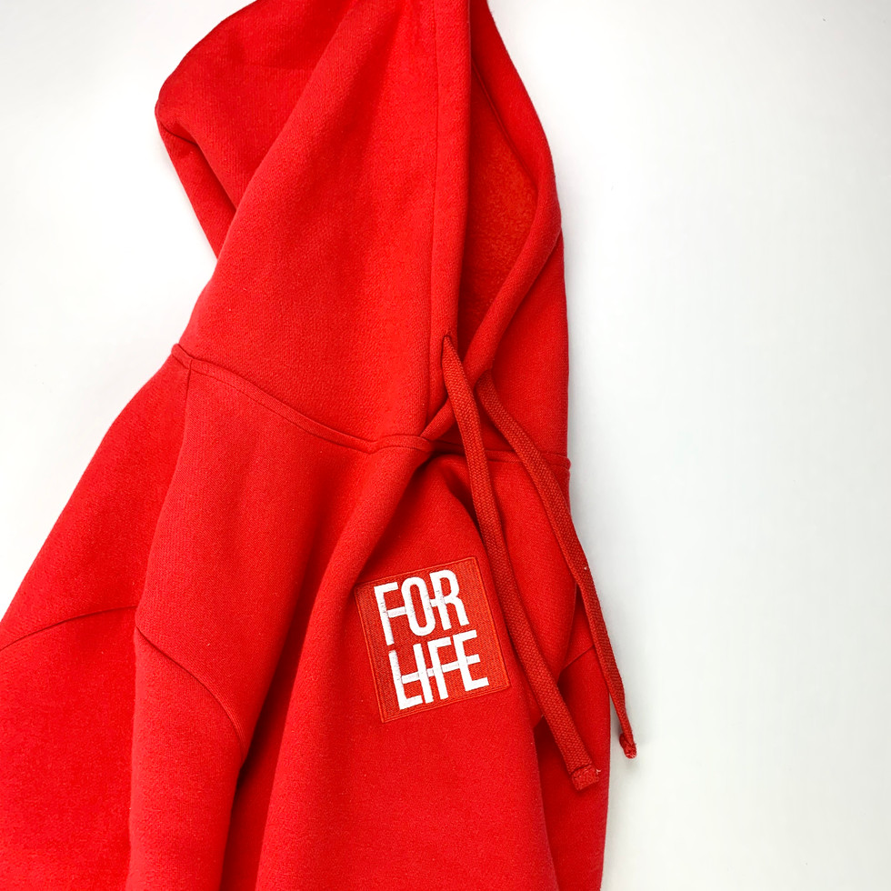 Red Classic Logo Hoodie