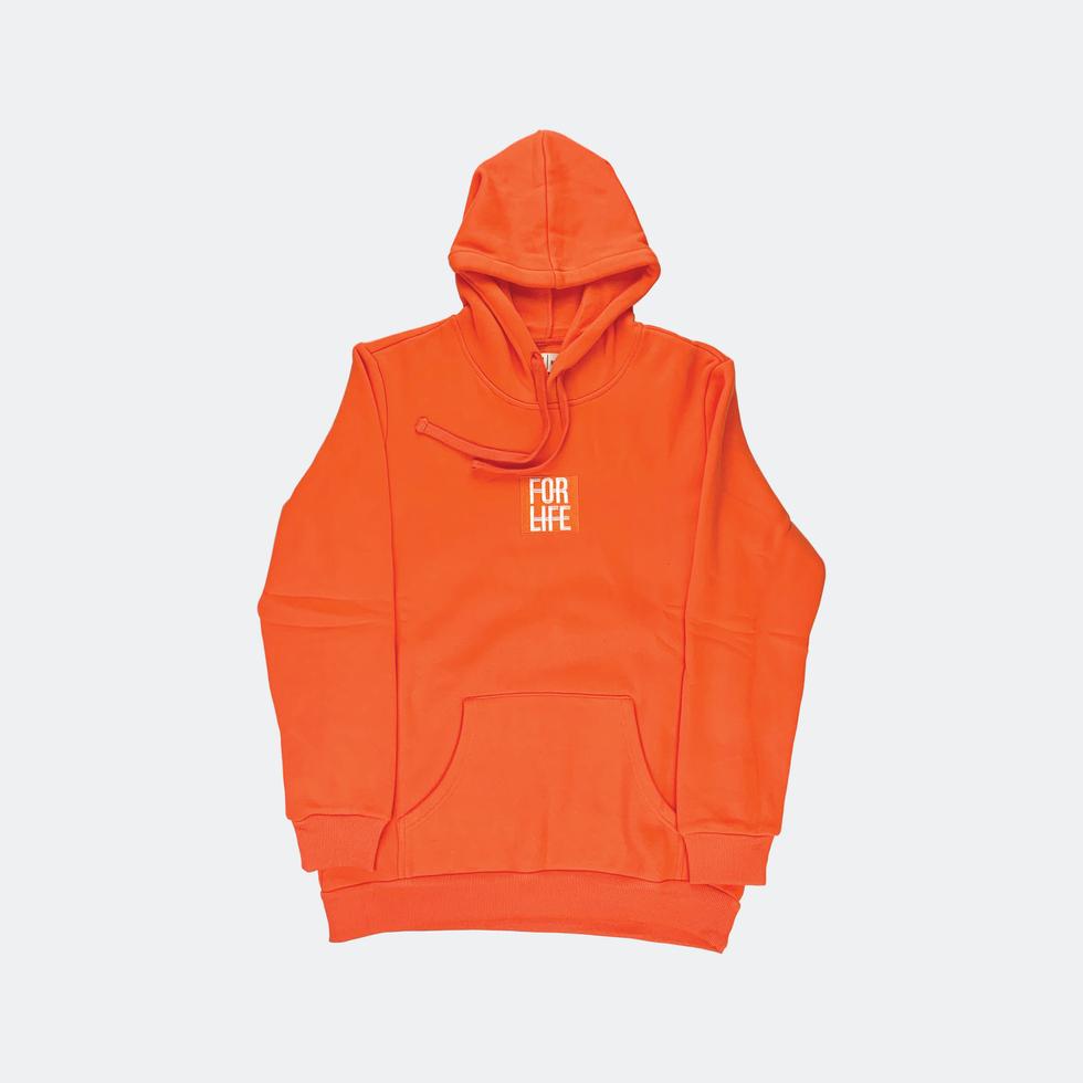 Orange Classic Logo Hoodie
