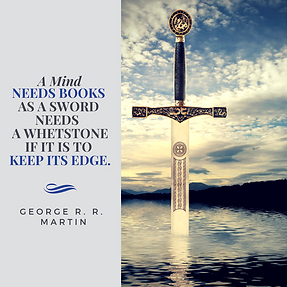 George R. R. Martin quote -  A mind needs books - Instagram graphic