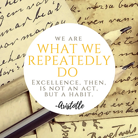 we are what we repeatedly do - aristotle