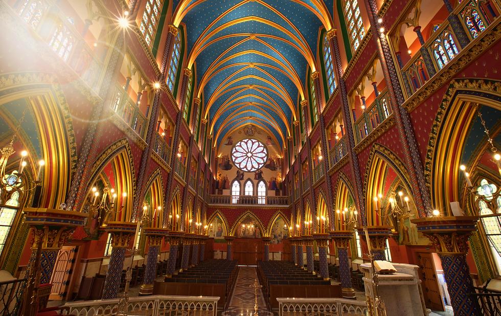 Basílica interna - visão geral - Folheto