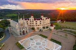 Basílica e pôr do sol