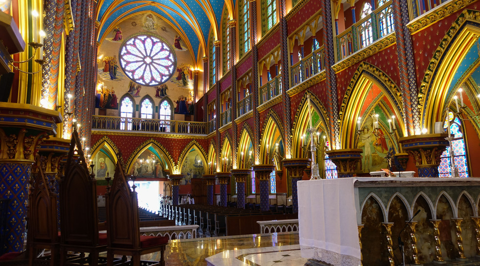 Interior da Basílica Nossa Senhora do Rosário de Fátima