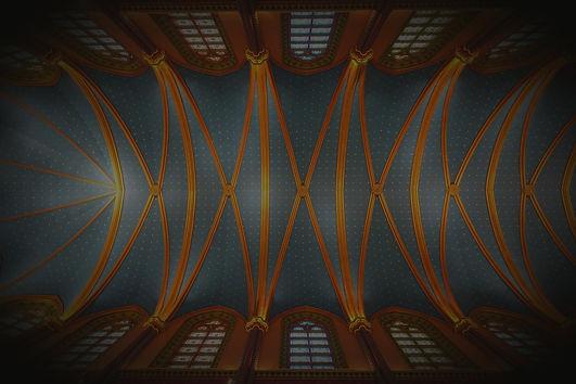Céu da Igreja iluminado - Basílica dos Arautos