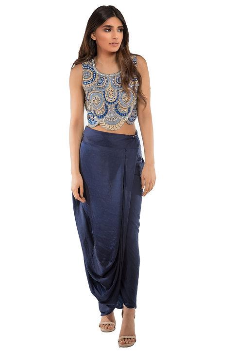Roshni Chopra Designs Mandala Crop Top and Skirt
